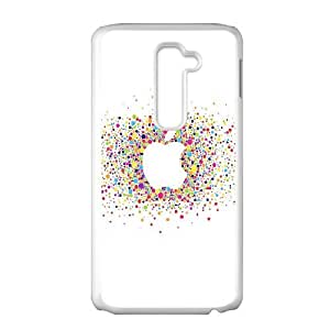 LG G2 Cell Phone Case White_al57 logo art apple rainbow minimal Dzabu
