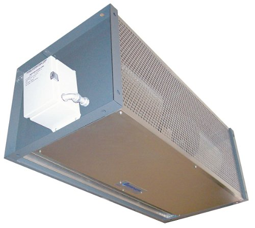 Berner - IDC12-3120AQ-G - High Velocity Air Curtain, 10 ft. Max. Door Width, 10 ft. Max. Mount Ht., 66 dBA @ 10 Feet, 4000 fpm by Berner