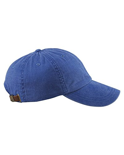 Adams 6-Panel Low-Profile Washed Pigment-Dyed Cap (AD969) Royal Blue, OS