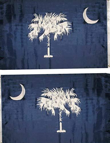 Hebel 3x5 State of South Carolina Blue State Flag 3x5 Banner Super Polyester Nylon   Model FLG - 1222