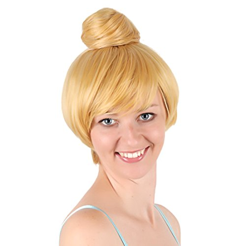 Women's Animation Short Blonde Princess Bell Cosplay Wig with Cap]()