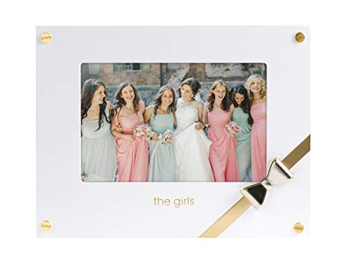 Pearhead Sentimental 'The Girls' 4x6 Wedding Keepsake Picture Frame, White