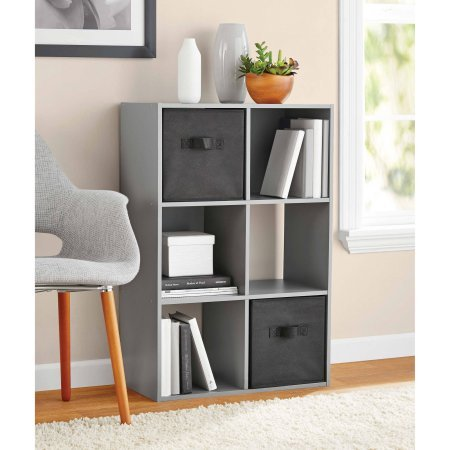 Mainstays 6 Cube Organizer, Gray Colors