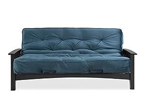 simmons denver futon frame wenge w  8   beautyrest visco pocketed coil innersrping futon in indigo amazon    simmons denver futon frame wenge w  8   beautyrest      rh   amazon