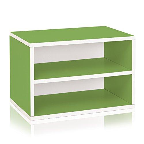 Way Basics Divider Blox Storage & Stackable Shelving, Green