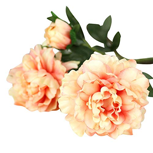 AKIMPE Artificial Fake Flower Faux Greenery DIY Decorations Forever Petals Long Stem Vine Preserved Gift for Wedding Party Home Birthday Garden Her Women 3 Heads ()