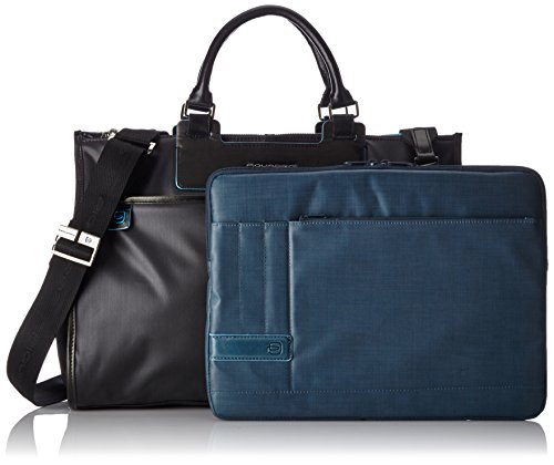 Piquadro Business Tote with Removable Notebook and iPad Mini Organizer Panel, Black, One Size by Piquadro (Image #5)