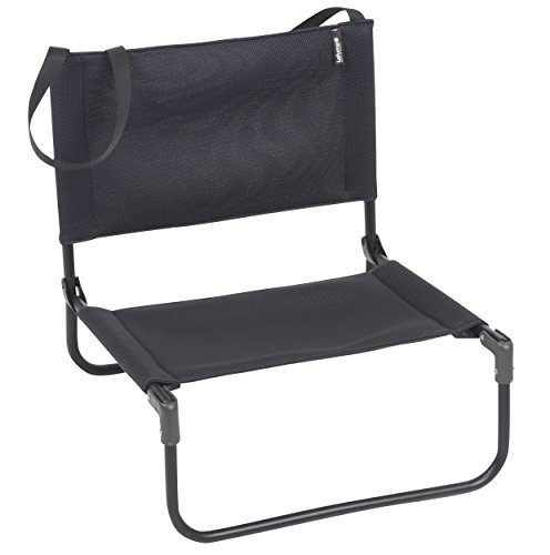 Lafuma CB Folding Chair – ブラックフレームwith Acier Airシェルファブリックby Lafuma B018WM921K