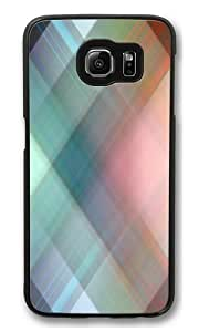 Blurry Crosshatch PC Case Cover for Samsung S6 and Samsung Galaxy S6 Black