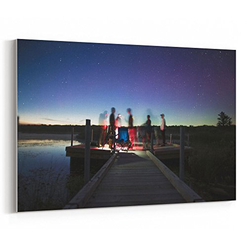 Westlake Art - Sky Night - 5x7 Canvas Print Wall Art - Canvas Stretched Gallery Wrap Modern Picture Photography Artwork - Ready to Hang 5x7 Inch (Therapy Bench Galaxy)