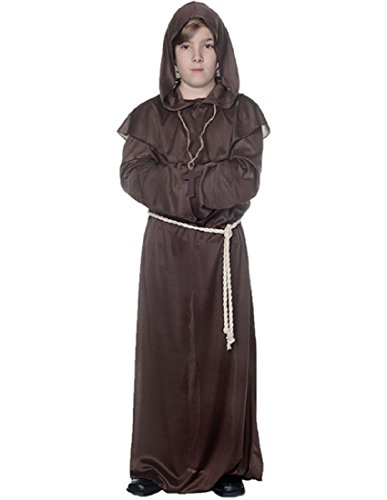 MONK ROBE CHILD BROWN LARGE -