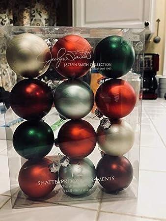 Amazon.com: Jaclyn Smith Shatterproof Tree Ornaments (12): Home