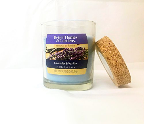 Lavender Garden Candle (Better Homes and Gardens Lavender & Vanilla Aromatherapy 9.5 Candle)