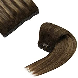 Sunny Brown Hair Extensions Clip in Human Hair 7pcs 120g Brown Clip in Hair Extensions Human Hair Double Weft Clip in…