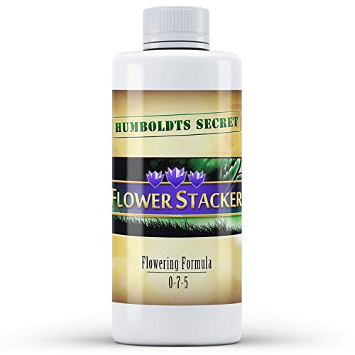 Humboldts Secret Flower Stacker - Flowering Plant Food - Nutrient System for Potting Soil for Indoor Plants & Outdoor Plants - Increase Flower Yield - Supports Flowering & Fruiting in Plants - 8 Ounce (Best Organic Nutrients For Flowering Cannabis)