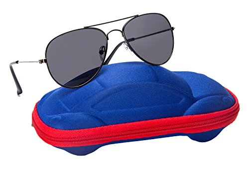 Kids Junior Aviator Classic Sunglasses Metal Frame Scratch Resistant Lenses By Comcl (Green Classic, - Kids Shades