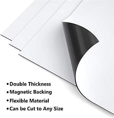 12 5.5in Salidas de Aire de Piso Paquete de 4 AC RV Blanco Puro HVAC para el hogar Cubiertas de ventilaci/ón magn/ética Im/án de Doble Espesor para Registros de Pared