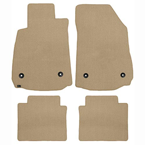Brightt (MAT-EQM-049) 4 Pc Car Floor Mat Set - Tan Classic Carpet - compatible for 1955-1957 Chevrolet Bel Air Sedan (1955 1956 1957 | 55 56 57)