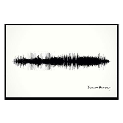 Bohemian Rhapsody - 11x17 Framed Soundwave print