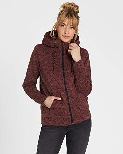 Billabong Women's Boundary Zip Up Fleece, Apple Butter L ()