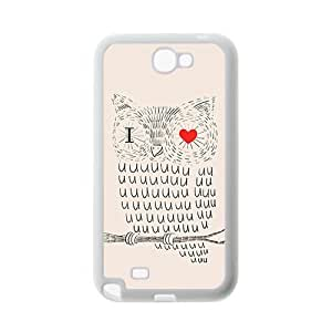 """Cute Owl Color """"I Love You"""" Especially Design Popular Coral Hand Painted Animal Cartoon Series Custom Luxury Cover Case For Samsung GALAXY S6 edge (White) ALL MY DREAMS"""