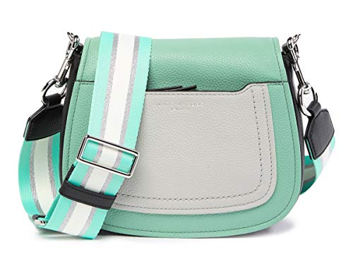 Marc Jacobs Empire City Mini Messenger Leather Crossbody Bag (Surf) (Marc Bag Jacobs Green)