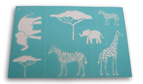 Martha Stewart Crafts Safari Style Laser-Cut Stencil - 12 x 7.75 Inches (Safari Stencils Animal)