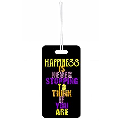 d1186ce2a193 Happiness Quote in Color Max Wilder TM Luggage Tag with Customizable ...