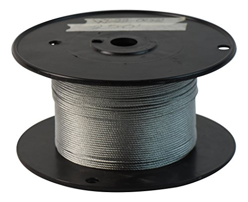 SwageRight W-22-002 Wire Rope, 1/16'' x 500' Spool, 7 x 7, 6'' Height, 3'' Wide, 3'' Length, Galvanized Steel, Silver Tone by SwageRight