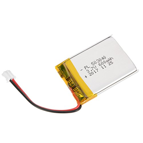 uxcell Power Supply DC 3.7V 600mAh 503040 Li-ion Rechargeable Lithium Polymer Li-Po Battery