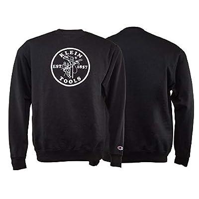 Klein Tools MBA00058-2 Large Champion Pullover Crew Sweatshirt With Lineman Logo