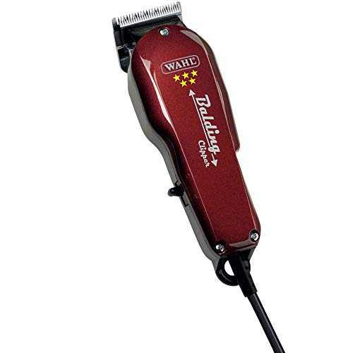 Wahl Professional 5-Star Balding Clipper #8110 - Great for Barbers and Stylists - Cuts Surgically Close for Full Head Balding - Twice the Speed of Pivot Motor Clippers - Accessories Included