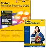 Software : Norton Internet Security 2009 - 3 User Edition & Save & Restore 2.0