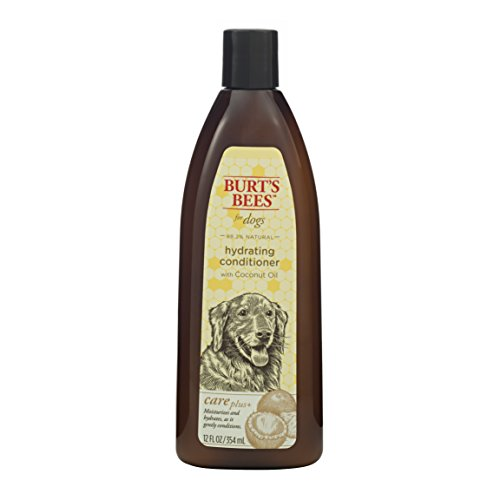 Burts Bees for Dogs Care Plus+ All-Natural Hydrating Conditioner with Coconut Oil | Best Dog Conditioner for Dry Skin, 12 Ounces