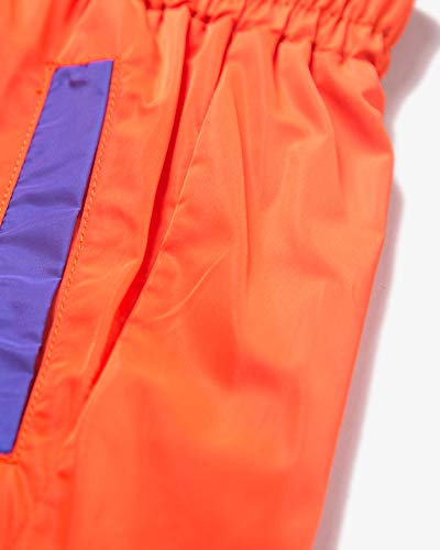Welity Boys' Girls' Athletic Workout Gym Running Shorts with Pockets, Beach Boardshort for Youth Boys & Girls, Orange, 11-12 Years=Tag 160 by Welity (Image #3)