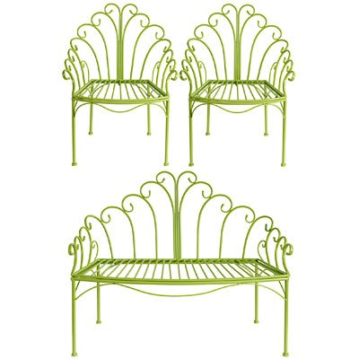 ワイヤの子のLoveシート&椅子セットグリーン B00H33RPKU