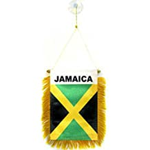 "Jamaica Mini Flag 4""x6"" Window Banner w/ suction cup"