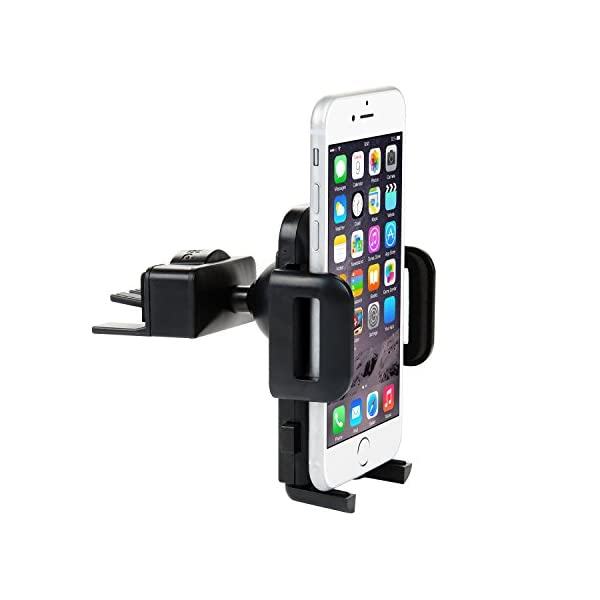 Car Phone Mount,Universal Mount Phone Holder For Car, ZSTVIVA CD Slot/Air Vent Cradle With Kickstand/One Touch Grip For IPhone 7/7 Plus, 6s/6s Plus,Galaxy S7/S7 Edge, S6/S6 Edge, And All Smartphones