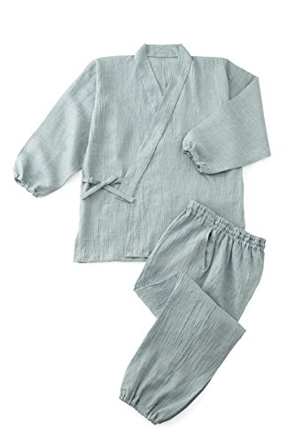 Omi-Chijimi Hemp Summer Samue  Mint Green L by Tozando