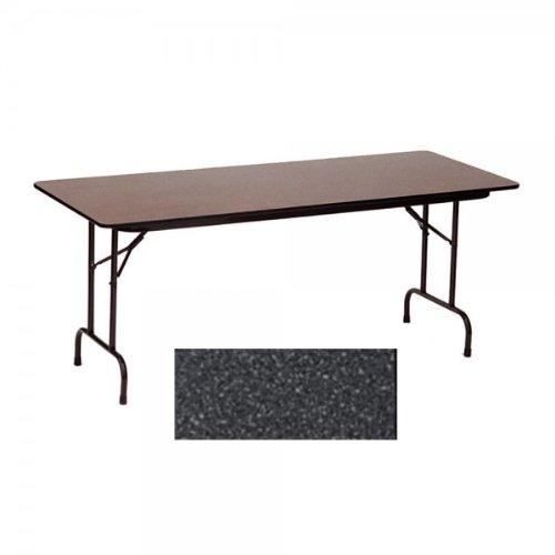 18x96 Melamine Top Folding Table (Black Granite / Black) (29