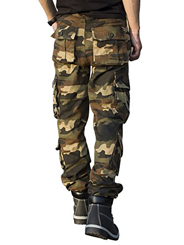 Taipove Coton Pantalon 1 Poches En Camouflage Homme Multi Cargo rfrgxqI