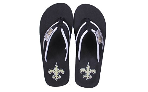Feet Feet Orleans Flops Collectibles Licensed New Flip Forever Happy Comfy NFL Officially Saints Contour and PqEd8