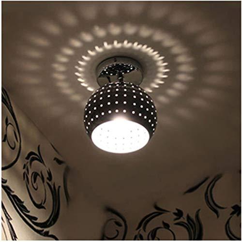 ZEEFO Mini Led Ceiling Light, Energy Saving Dome Lamp, Chrome Finish Flush Mounted Lighting Chandeliers for Aisle, Hallway, Bathroom, Living Room, Kitchen, Bedroom, Hotel, Warehouses, Hallway, (Energy Saving Finish)