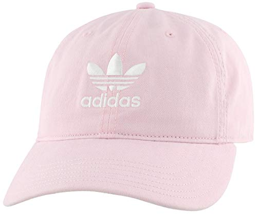 adidas Originals Men's Relaxed Strapback Cap, Clear Pink/White, ONE SIZE (Mens Strapback Hats)