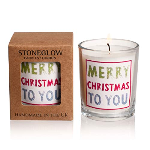 Stoneglow Votive Candle Occasions Merry Christmas to You