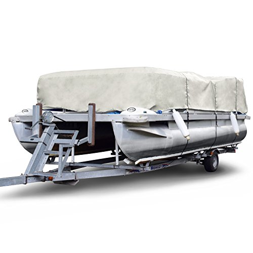 Budge 300 Denier Pontoon Covers Fits Pontoon Boats 20' to 24' Long, Gray ()