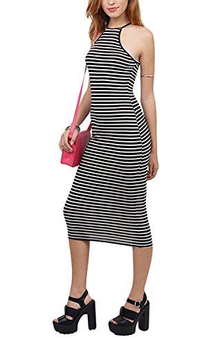 ainrving Women's Printed Elastic Hemline Slim Fit Solid Dresses (Yakima Wa Stores)