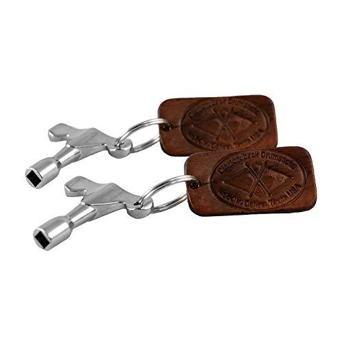 Leather Diamondback (Diamondback Drumstick 2 Drum Keys with Leather Key Chain)