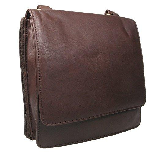 Vitali - Bolso estilo cartera para mujer medium marrón