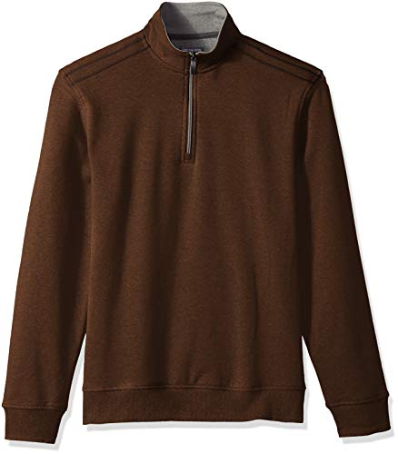 - Van Heusen Men's Flex Long Sleeve 1/4 Zip Soft Sweater Fleece, Red Picante, X-Large